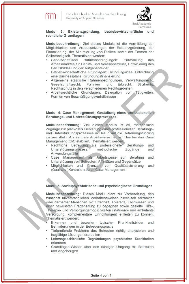 Hochschulzertifikat_Hochschule Neubrandenburg_Pruefungsurkunde_Seite_4
