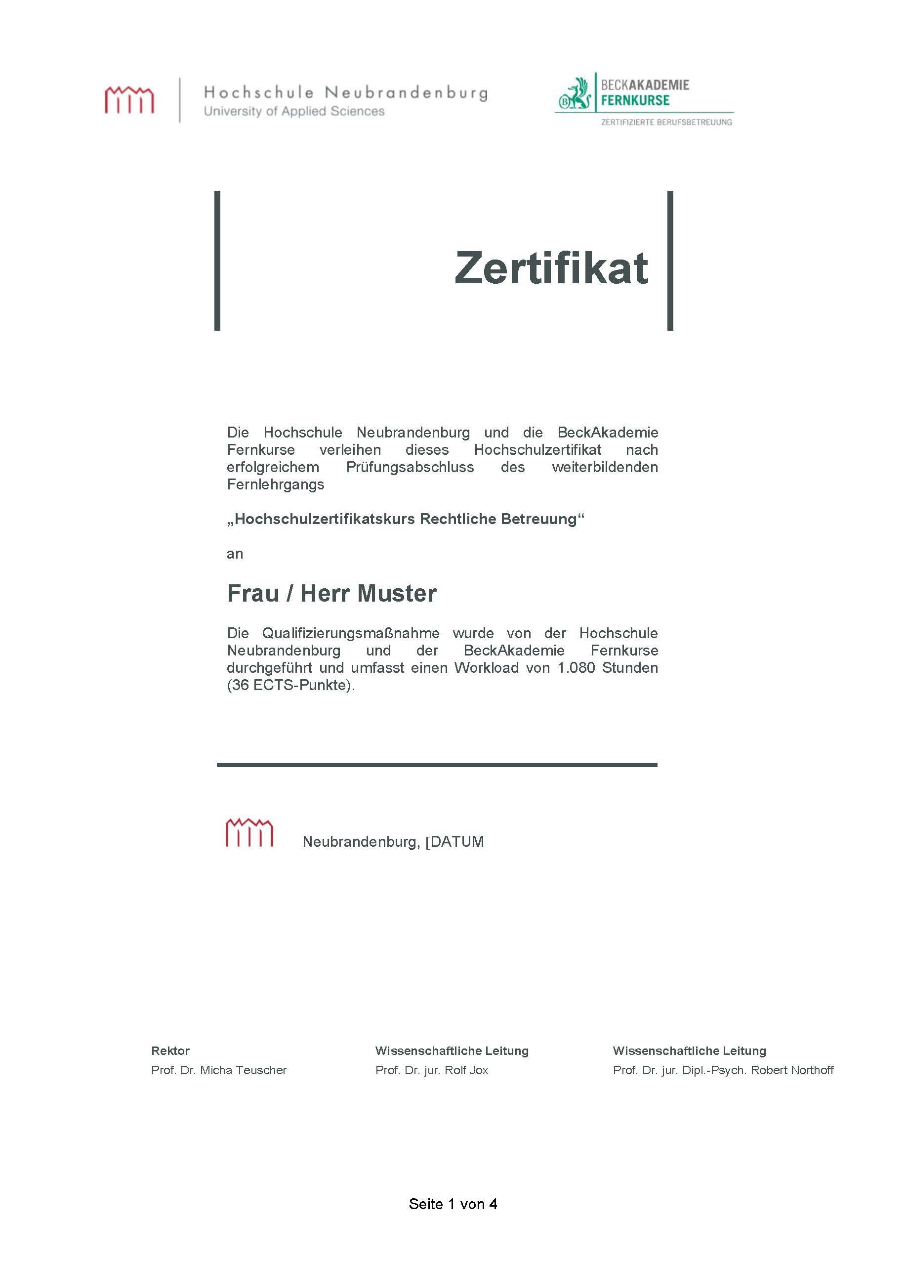 Vom Ehrenamt zum Hauptberuf: Berufsbetreuer mit Hochschulzertifikat ...